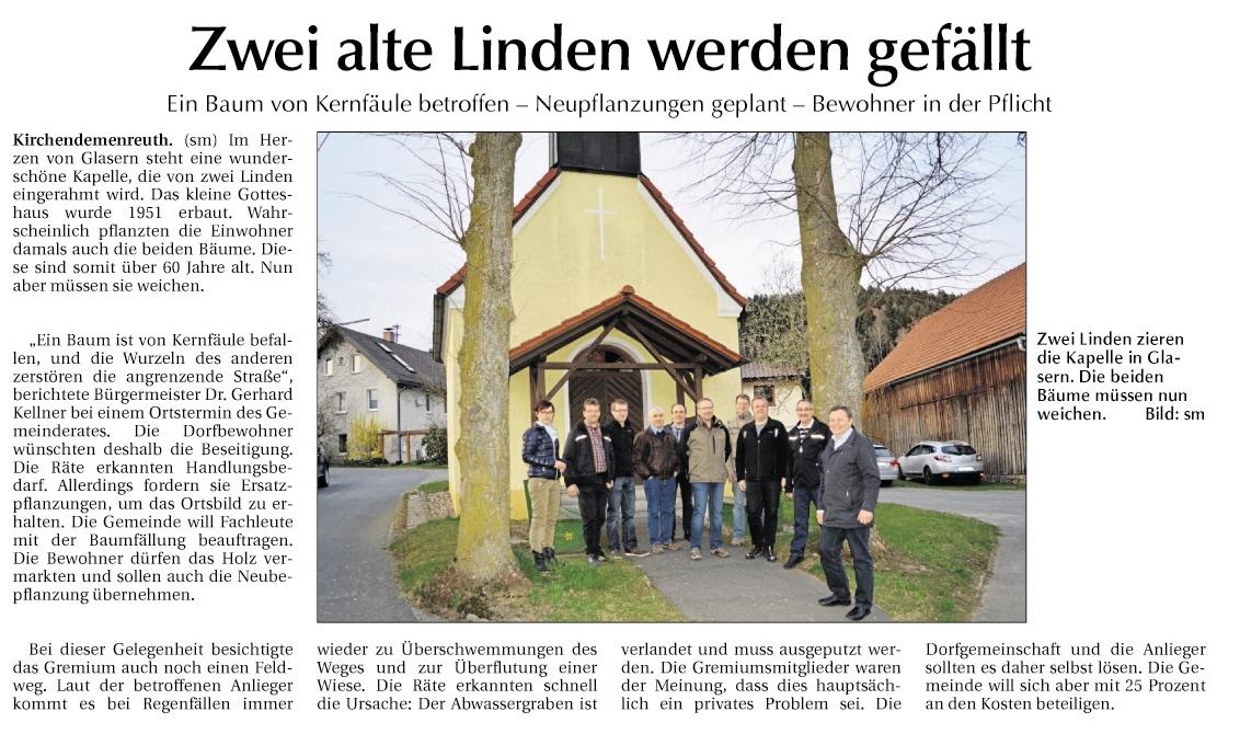 2015-04-17 Zwei alte Linden werden gefällt