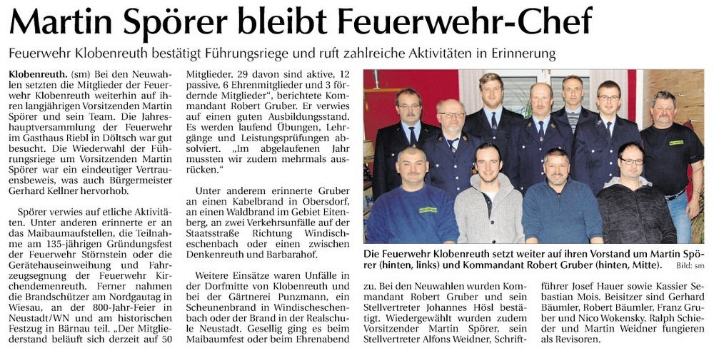 FFW Klobenreuth 11.1.2019