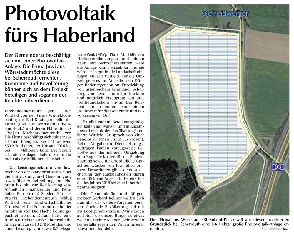 Solarfeld Scherreuth 13.10.2018
